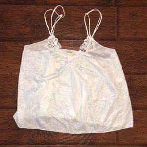 Diane Von Furstenberg White Lace Camisole